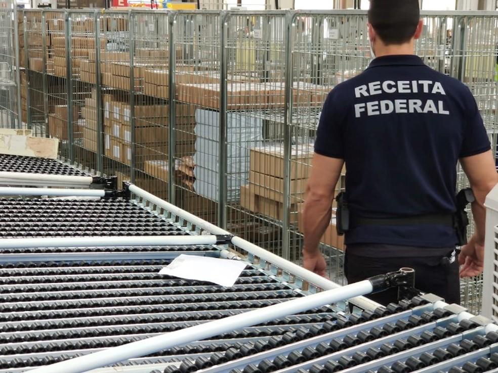 Ação da Receita em empresa ocorreu por 3 dias, em Campinas — Foto: Receita Rederal