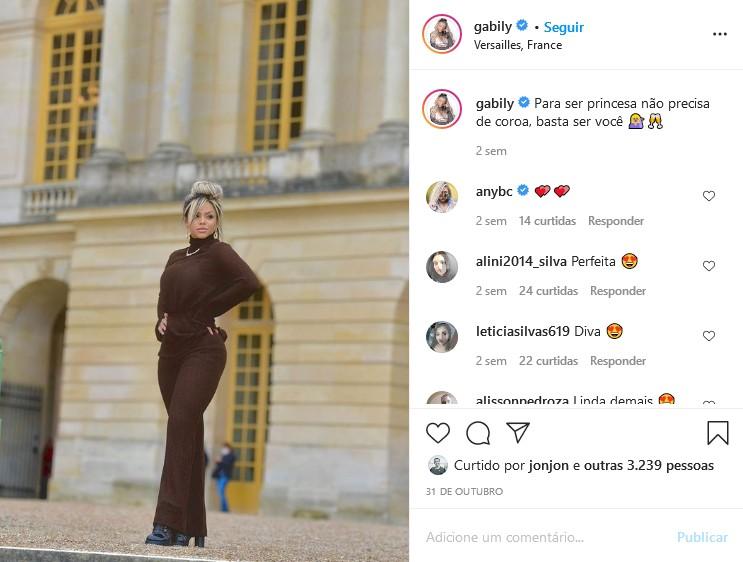 Gabily em Paris (Foto: Reprodução/Instagram)