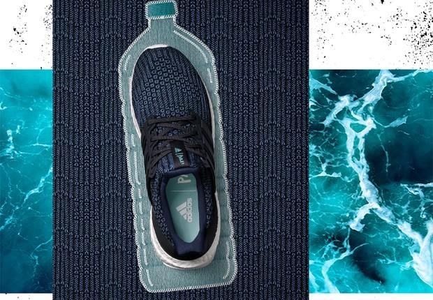 Tênis da Adidas em parceria com Parley, fabricado com plástico de oceanos (Foto: Divulgação/Adidas)