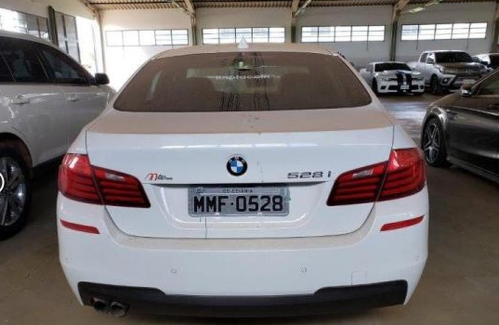 BMW colocada a leilão para ressarcir vítimas da Kriptacoin — Foto: Leiloeiros de Brasília/Divulgação
