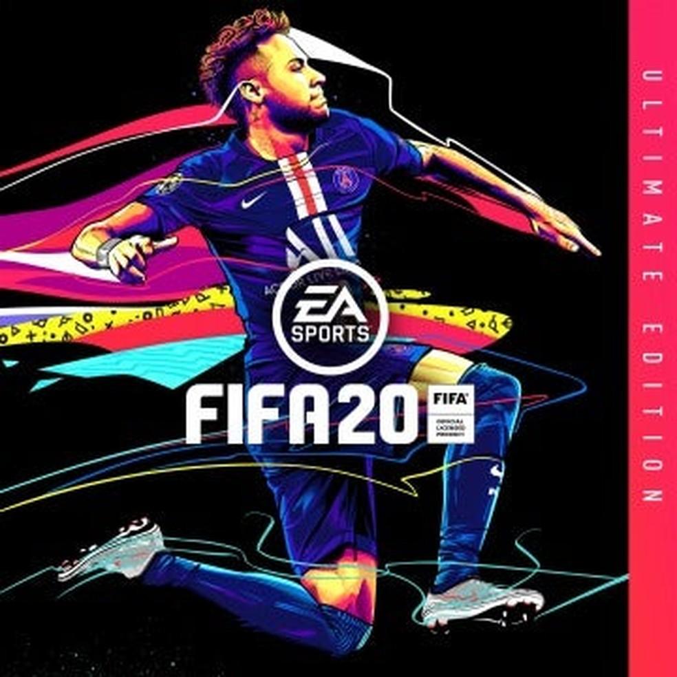 Ilustração de Neymar foi produzida por brasileiro para a EA Sports — Foto: Reprodução