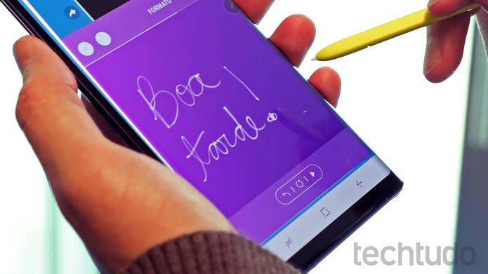 Samsung Galaxy Note 9 [marca] (Foto: Bruno De Blasi/TechTudo)