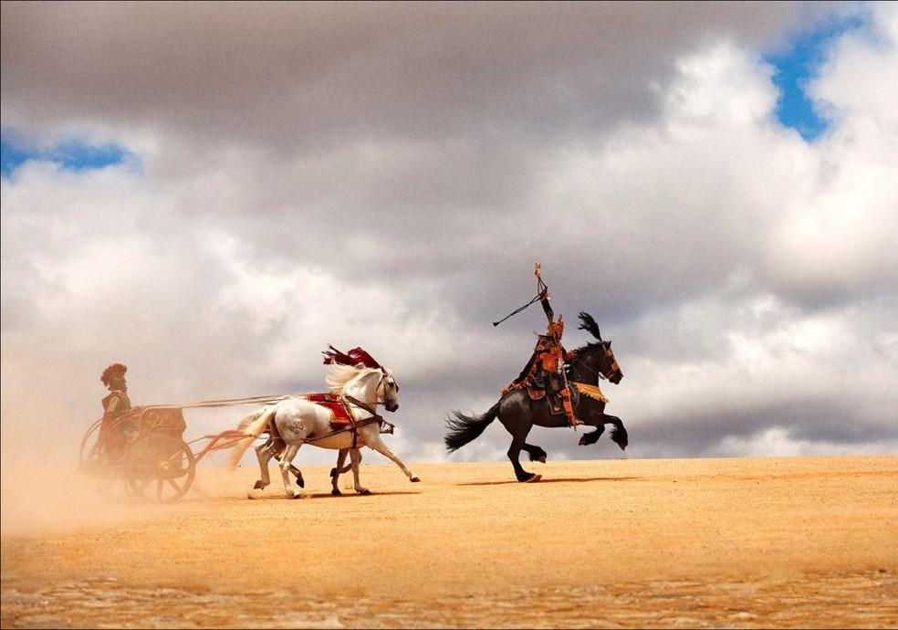 Cavalos participam de três cenas da Paixão de Cristo (Foto: Divulgação )