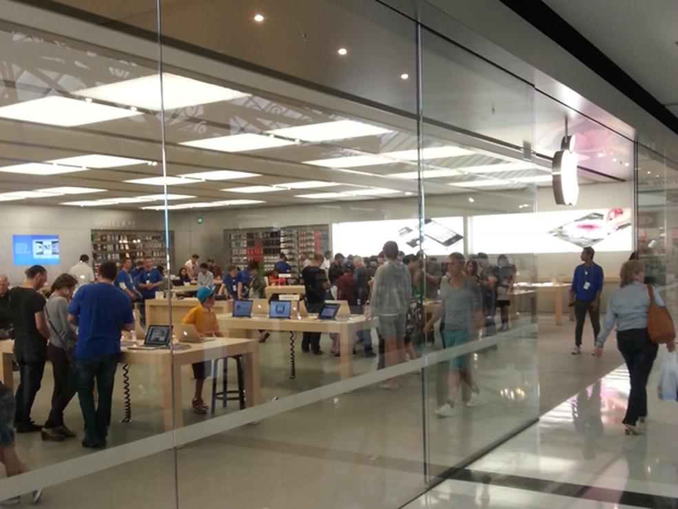 Loja da Apple no Brasil (Foto: Victor Silva/VC no G1)