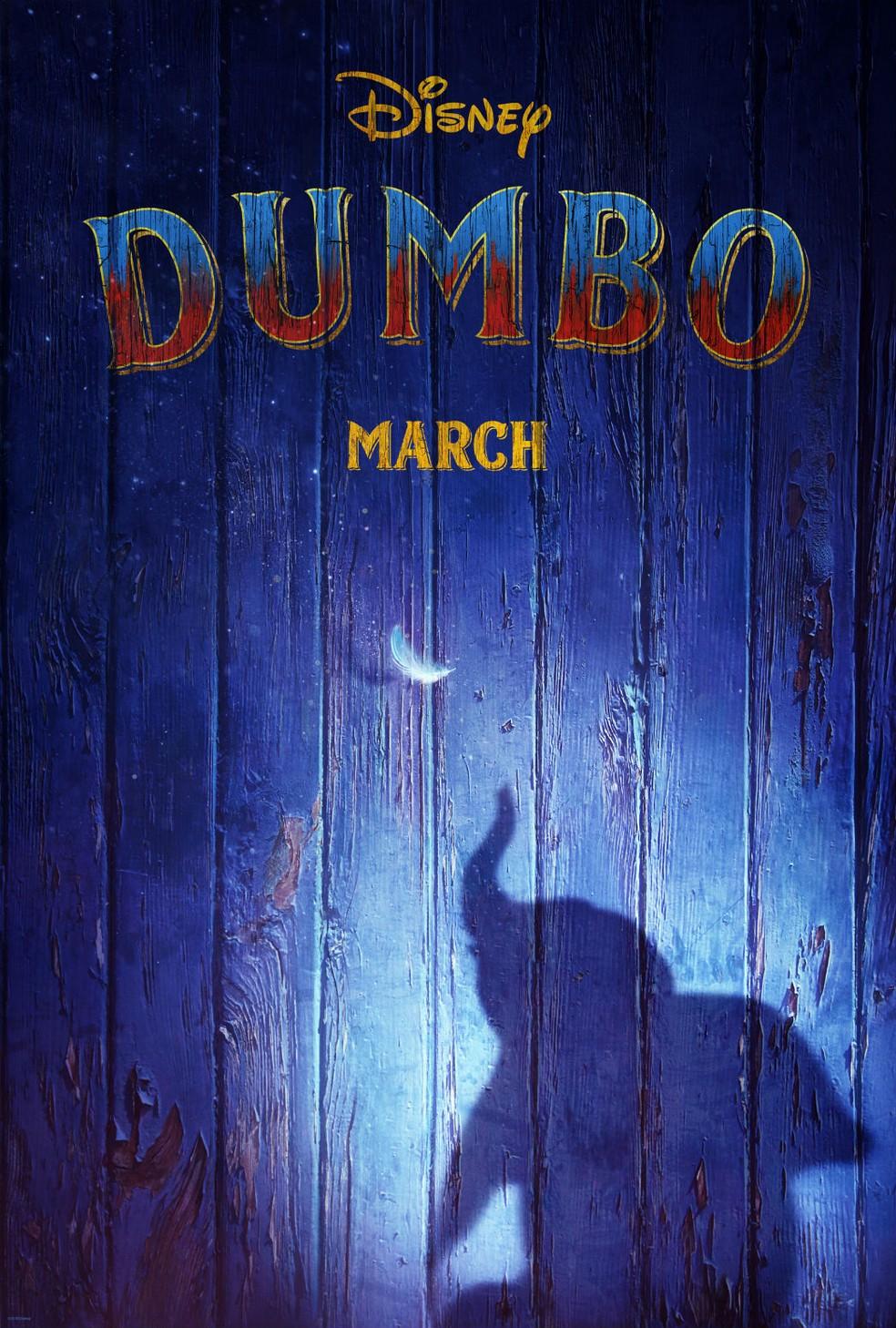 -  Primeiro pôster de   39;Dumbo  39;, divulgado pela Disney  Foto: Divulgação