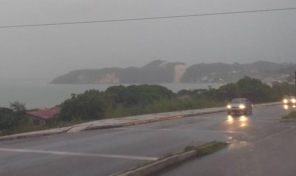 Chuva em Natal (Arquvo 11/07/2017) (Foto: Igor Jácome/G1)