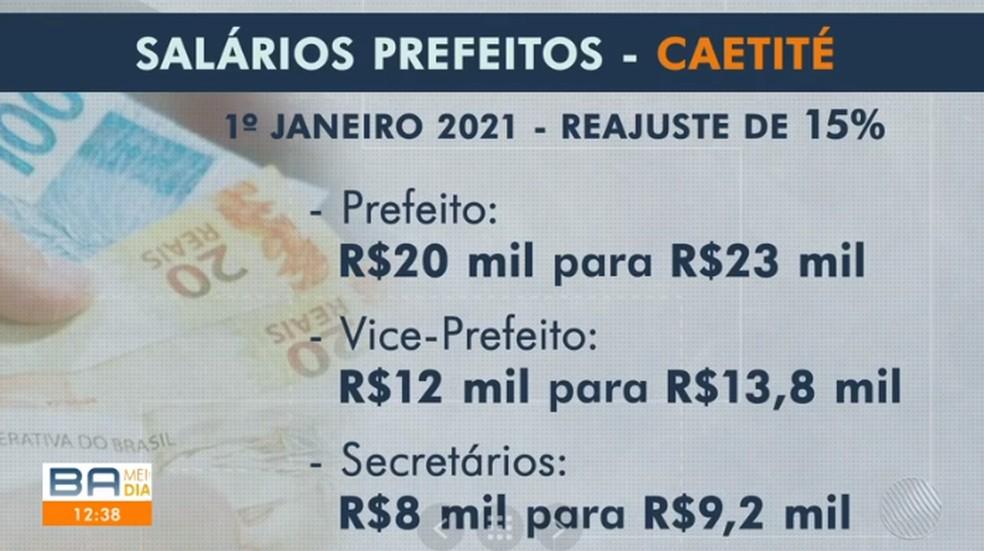 Câmara de Caetité aprova aumentos de salários de prefeito e vice — Foto: Reprodução / TV Bahia
