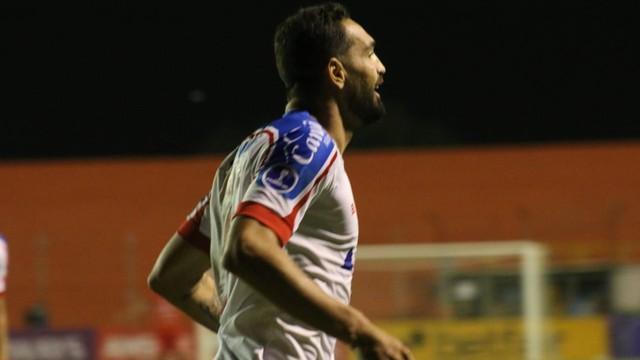 Gilberto comemora gol do Bahia sobre o Guabirá-BOL