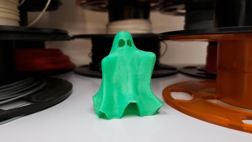 Fantasma produzido em impressora 3D — Foto: Humberto Trajano/G1