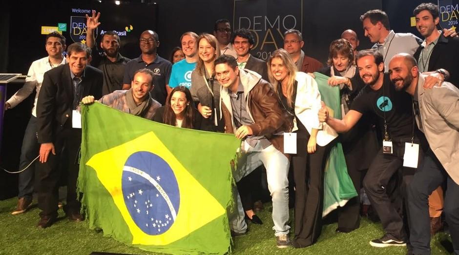 Durante o hiato, Start-Up Brasil fez apenas Demodays, como o realizado durante o TechCrunch Disrupt 2016 (Foto: Divulgação)