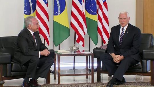 Temer recebe vice-presidente dos EUA para falar sobre imigrantes