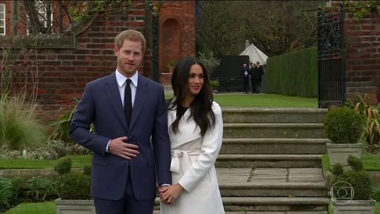 Príncipe Harry aparece com a noiva após anunciar casamento