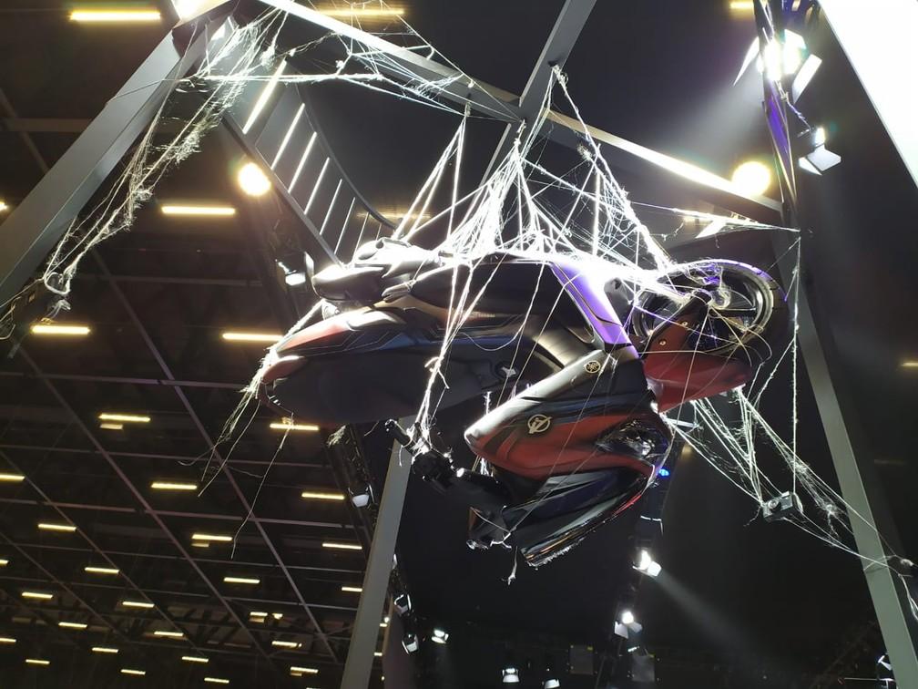 Yamaha NMax 160 inspirada no Homem Aranha — Foto: Guilherme Fontana/G1