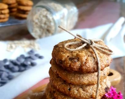 Cookie de aveia e pasta de amendoim