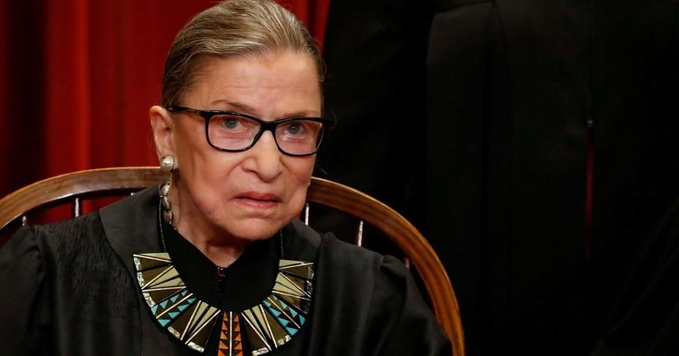 Ginsburg fazia parte de um bloco de quatro juízes progressistas — Foto: Divulgação