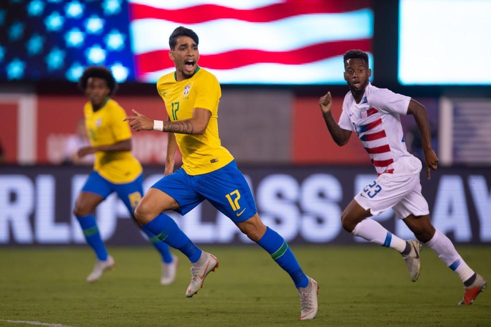 Lucas Paquetá participou dos amistosos da Seleção contra os EUA e El Salvador — Foto: Pedro Martins / MoWA Press