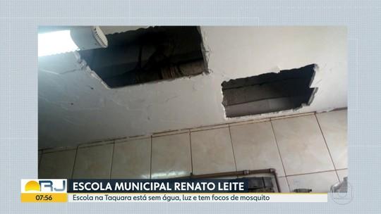 Escola municipal na Taquara, em Jacarepaguá, está em estado precário