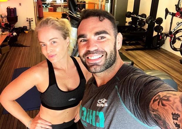 Angélica posa pós-treino com Chico Salgado (Foto: Reprodução/Instagram)