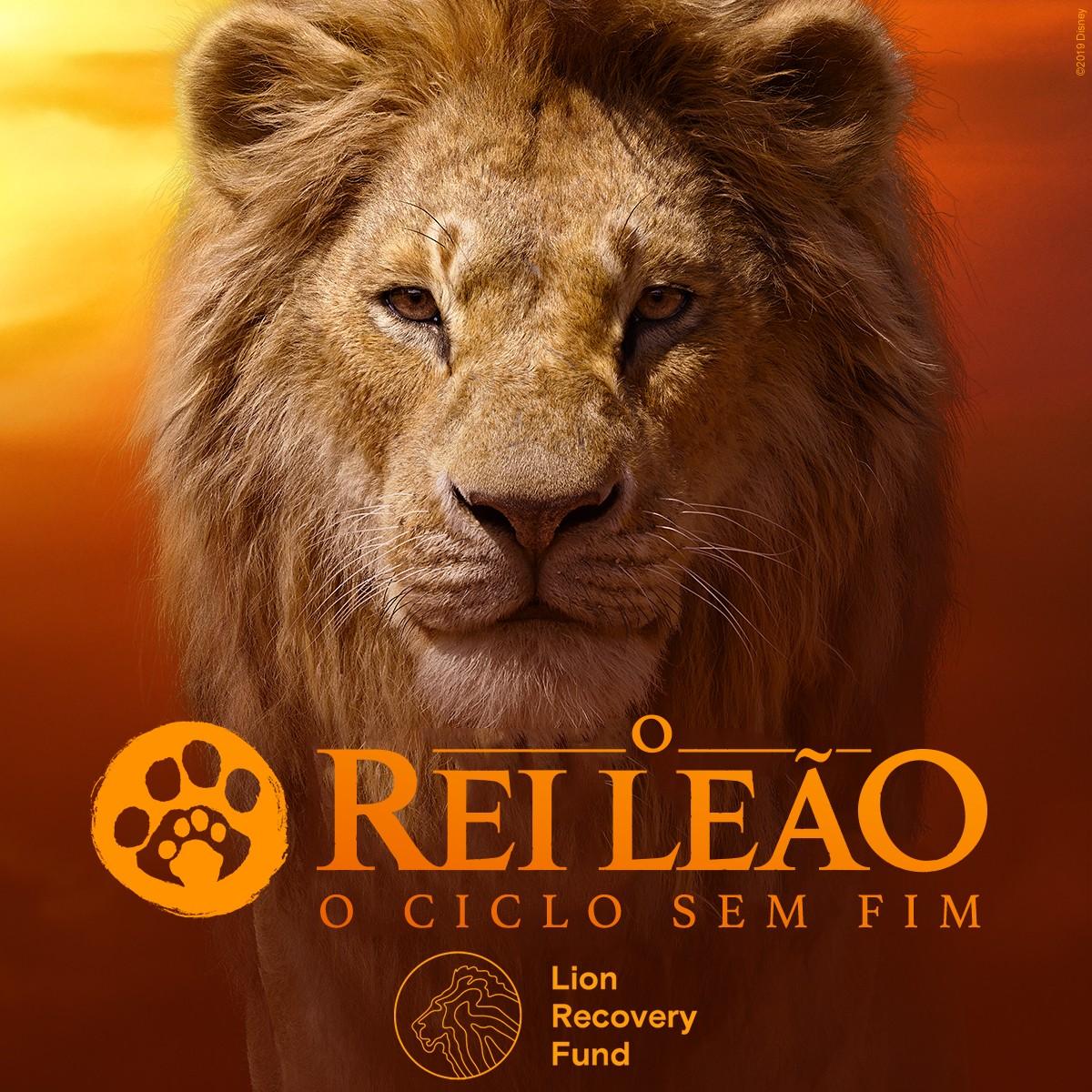 Campanha da Disney em prol dos leões fica disponível até 14 de agosto (Foto: Divulgação/Disney)