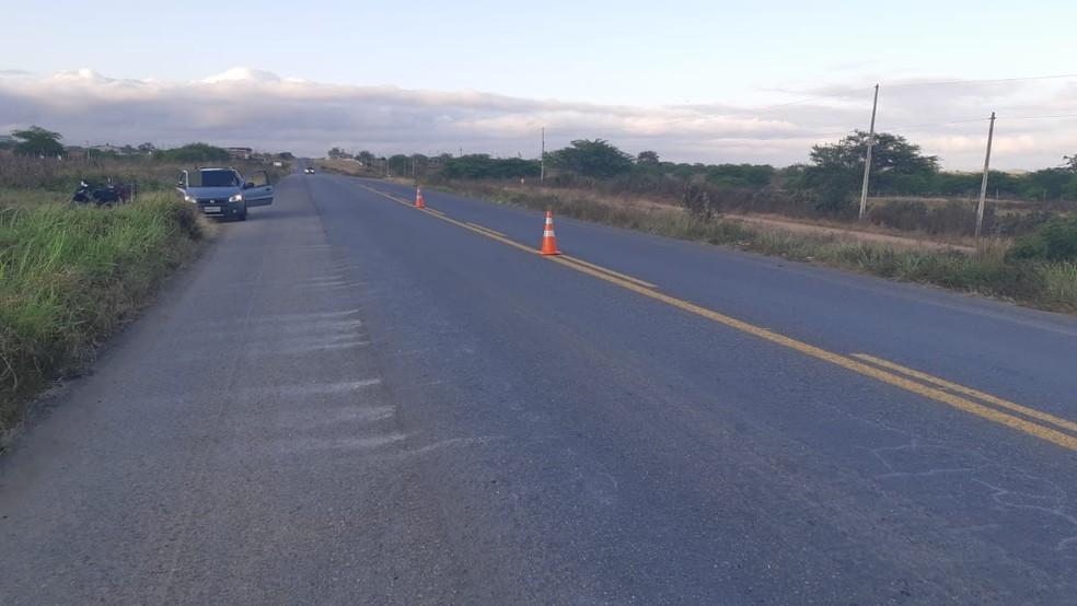 Acidente ocorreu no km 41 da BR-423, em Cachoerinha — Foto: Polícia Rodoviária Federal