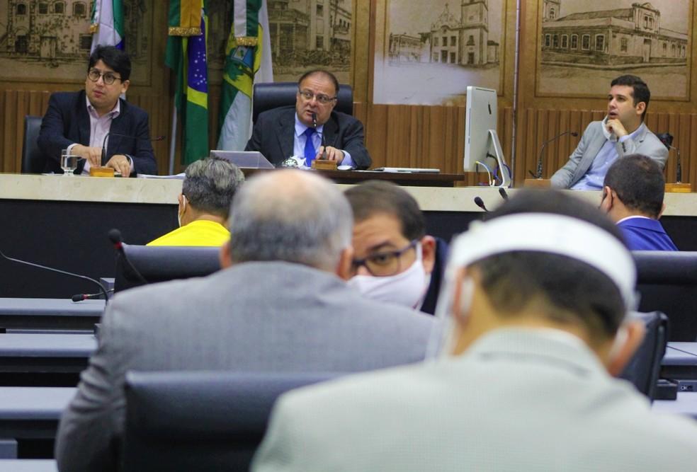 Câmara Municipal de Natal: vereadores aprovaram LOA — Foto: Marcelo Barroso