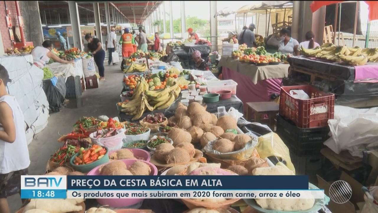 Preço da cesta básica em Feira de Santana sofre aumento de 25% em 2020
