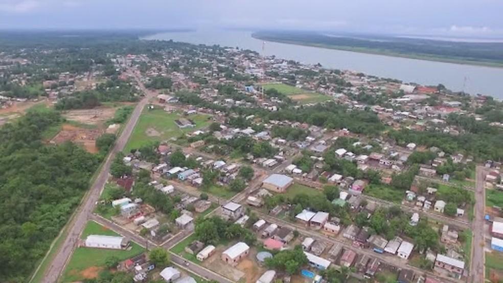 Nova Olinda do Norte, no interior do Amazonas. — Foto: Reprodução