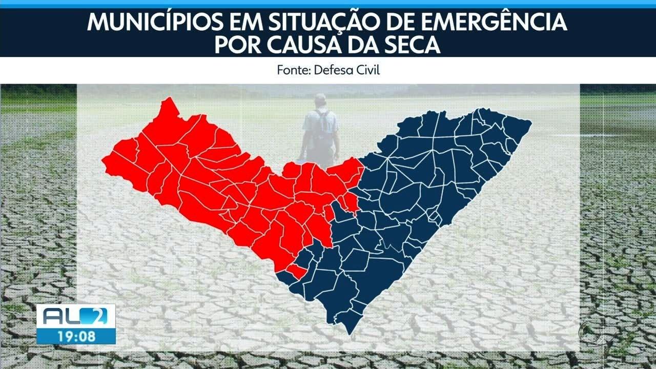 42 municípios de Alagoas estão em situação de emergência por causa da seca