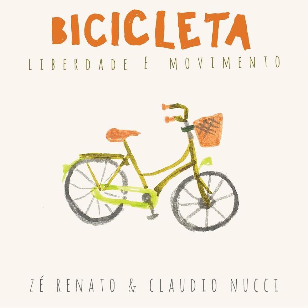 Capa do single 'Bicicleta - Liberdade e movimento', de Zé Renato & Claudio Nucci — Foto: Arte de Philippe Leon