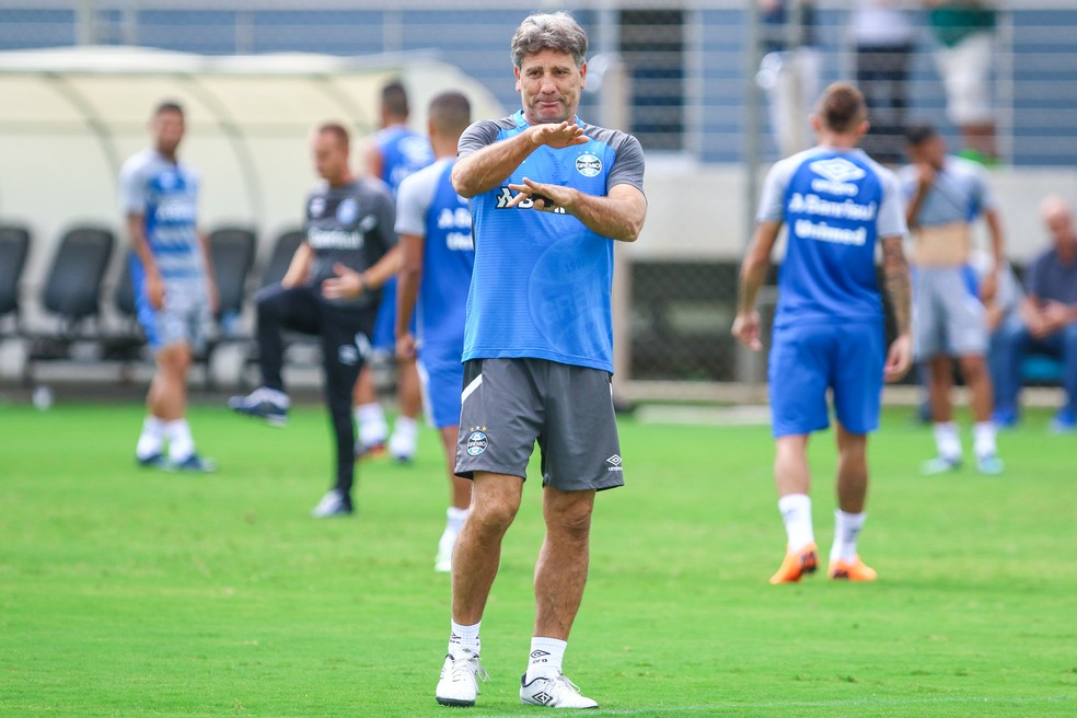 """Renato Gaúcho diz que seu time não é """"cavalo paraguaio"""" — Foto: Lucas Uebel/Grêmio"""