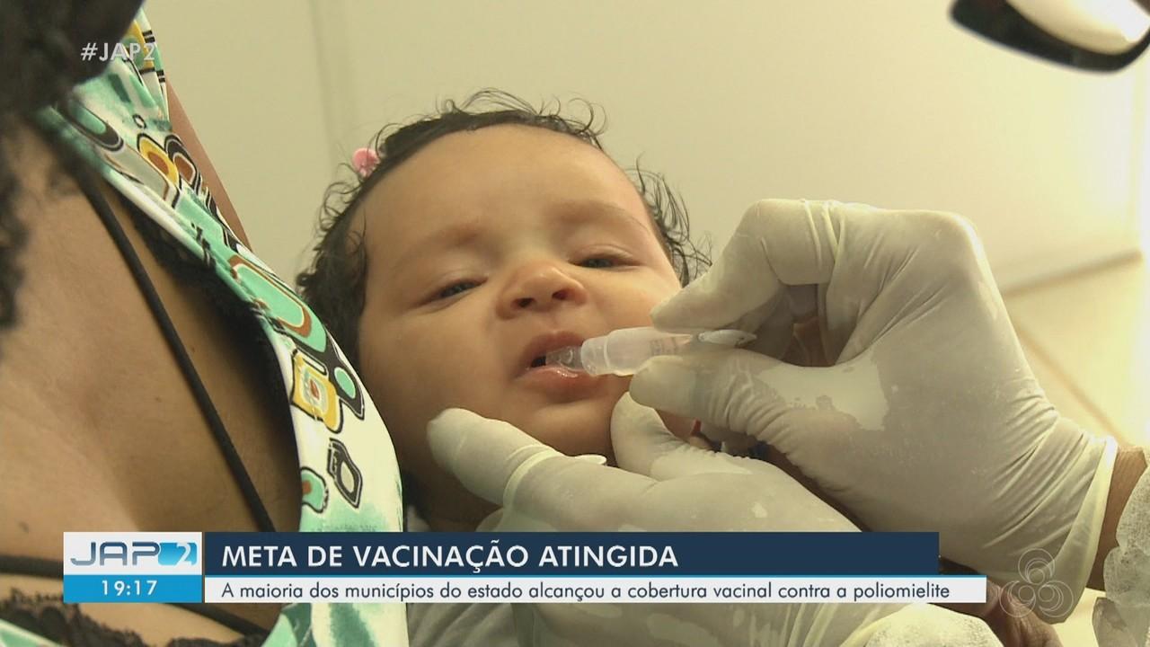 Amapá é o único estado a atingir meta de vacinação no país para poliomielite