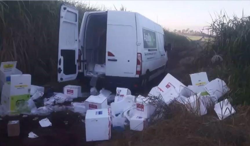 Carga de medicamentos avaliada em R$ 600 mil é roubada na BR-050 e veículo é recuperado em Delta