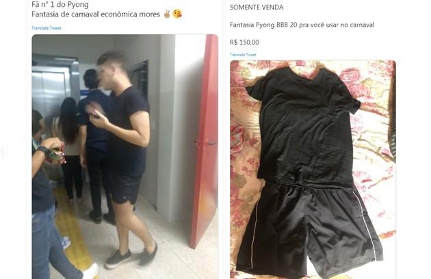 Praticidade: roupa preta de Pyong Lee inspira quem quer um traje fácil para os blocos (Foto: Reprodução/Twitter)