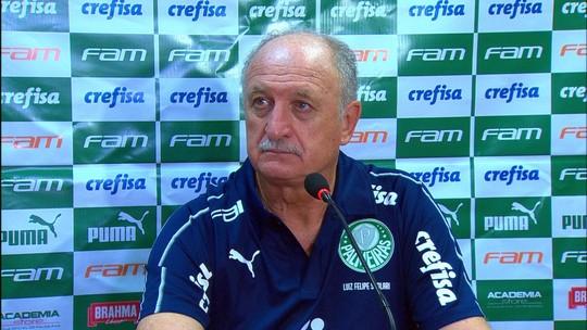 """Felipão vê 0 a 0 justo e lamenta gols perdidos pelo Palmeiras: """"Vamos ter que corrigir"""""""