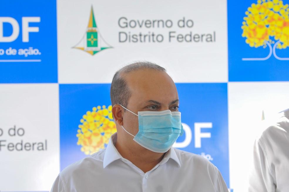 Governador do Distrito Federal, Ibaneis Rocha, em imagem de arquivo — Foto:  Lúcio Bernardo Jr. / Agência Brasília