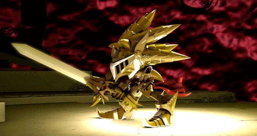 Sonic ganha armadura dourada em Sonic Black Kinght  — Foto: Reprodução/Marcos Silva
