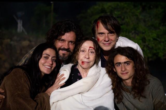 Carol Castro, Felipe Camargo, Fernanda Montenegro, Fernando Eiras e Joaquim Torres (Foto: Suzanna Tierie)