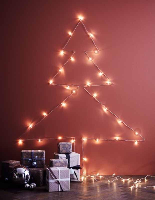 Árvore de Natal de parede: 15 modelos super criativos (Foto: Reprodução/Pinterest)