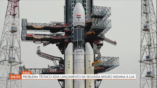 Problema técnico adia lançamento da segunda missão indiana à Lua