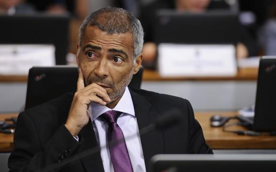 O senador Romário (PSB-RJ) (Foto: Edilson Rodrigues/Agência Senado)