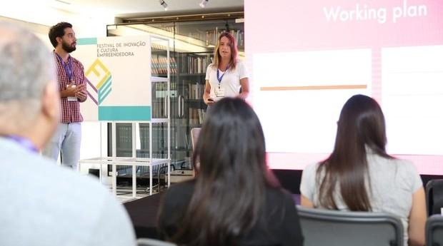 Renata Porto, sócia da Malagueta, durante palestra no FICE 2018 (Foto: Editora Globo/Alexandre Dipaula)