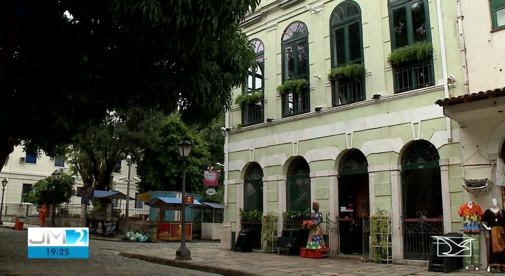 Restaurante Flor de Vinagreira, no Centro Histórico de São Luís — Foto: Reprodução/TV Mirante