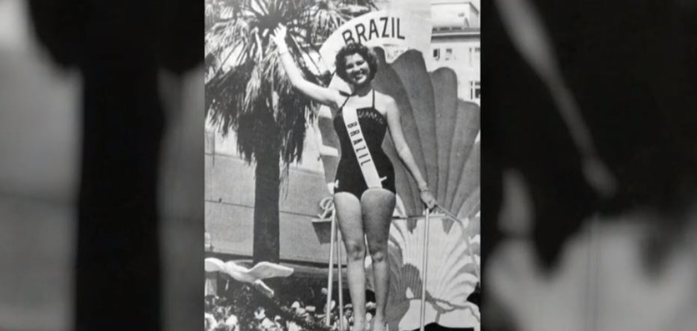 Martha Rocha, 1ª Miss Brasil, em 1954 — Foto: Reprodução/Globo
