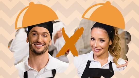 Diego Hypolito e Renata Dominguez encaram Panela de Pressão do 'Super Chef'