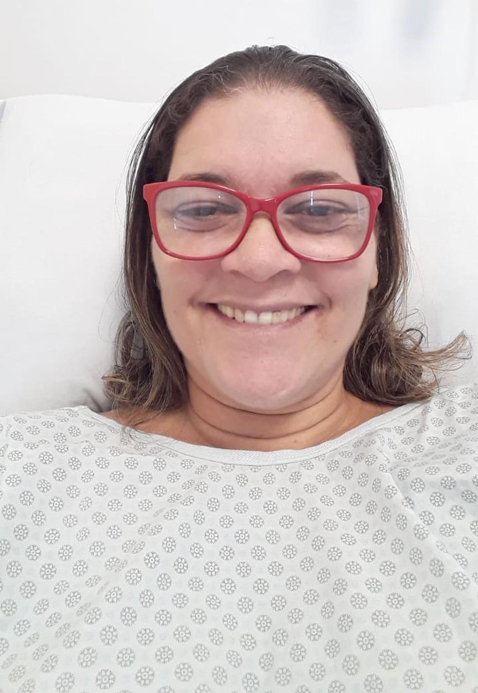 Professora passou mais de 40 dias internada em hospital em Santos, SP — Foto: Arquivo pessoal