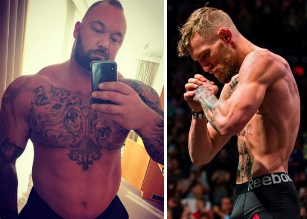O ator Hafthór Júlíus Björnsson e o lutador Conor McGregor (Foto: Instagram)