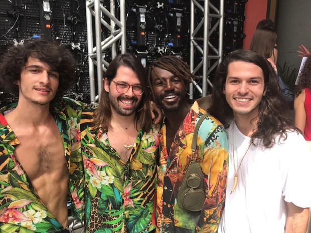 O modelo Júlio Reis, Thomas Azulaym Jonathan Azevedo e Patrick Doering (Foto: Divulgação)