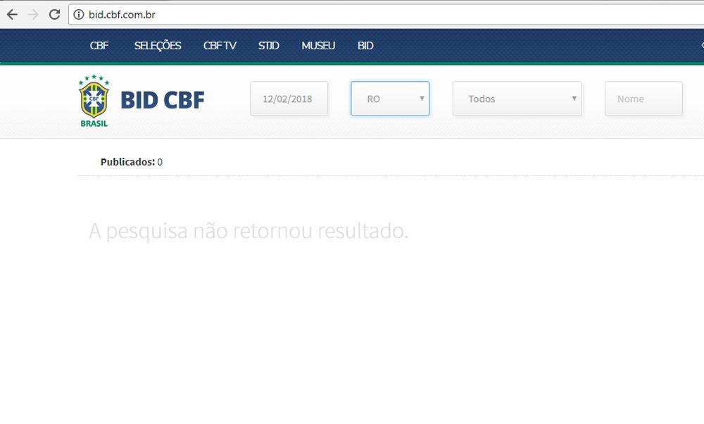 Divulgação (Foto: Print da página do Boletim Informativo Diário/ Confederação Brasileira de Futebol )