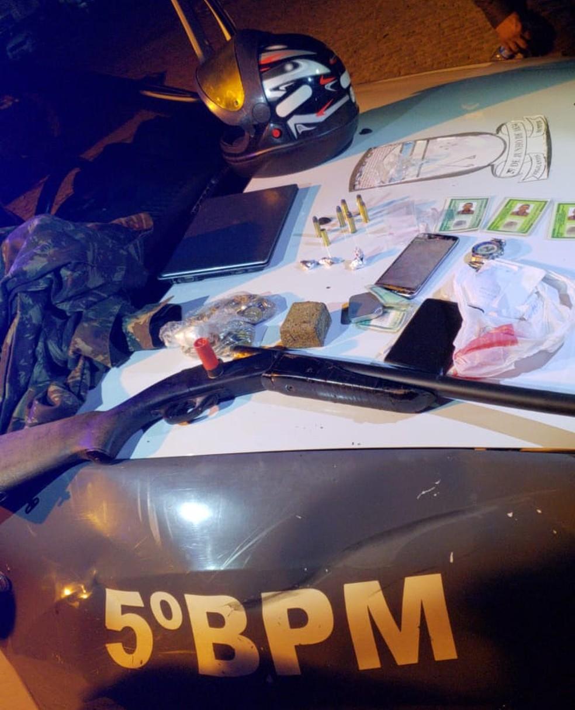 Material apreendido pela polícia — Foto: PMRN/Reprodução