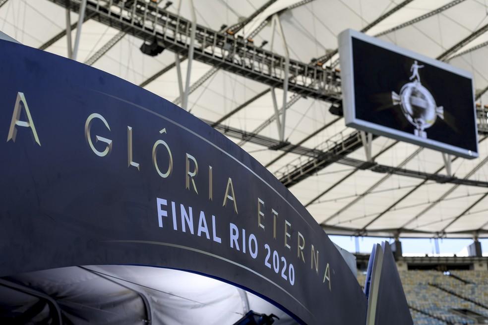 Palmeiras venceu o Santos no Maracanã na edição de 2020 — Foto: Staff Images/Conmebol